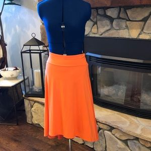 Ann Taylor High-Low Skirt - Orange
